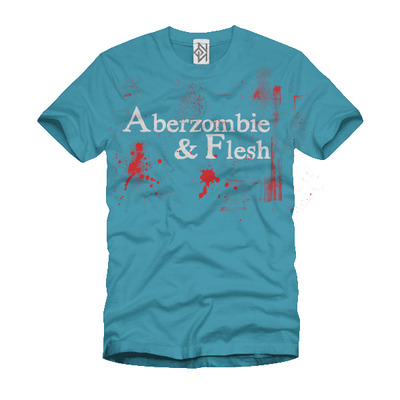 Aberzombie & flesh (t-shirt blue)