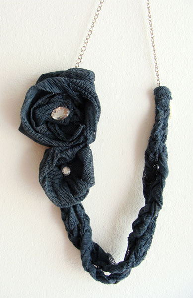 Floral Braided Tulle Eco Necklace by Sardinella Sardine