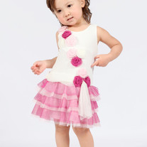 Isobella & Chloe Swan Lake Flowered Tutu Dress in Pink, 2T-4T