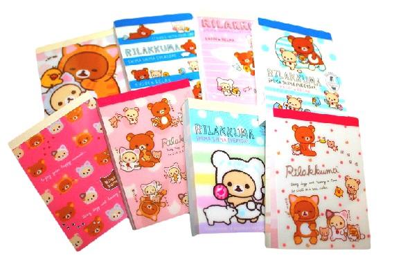rilakkuma surprise memo pad notepad san x stationery japan kawaii