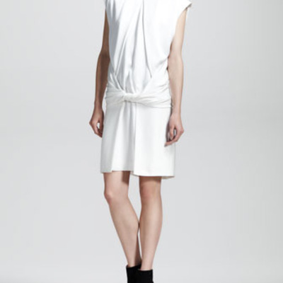 Alexander wang twist front muscle tee dress
