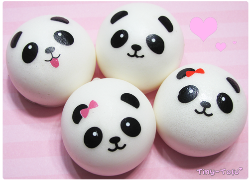 Panda Bun Squishy Mini : Mini Panda Bun Squishy Cell Phone Charms ? Kawaii Squishy Shop ? Online Store Powered by Storenvy