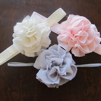 Sweet and Chic Chiffon headbands