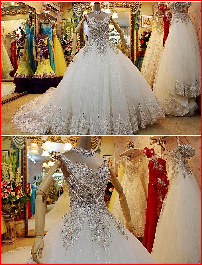 YZ bandage princess big train wedding dress IV · YZ Fashion Bridal ...