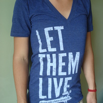 """Let Them Live"" Deep V Indigo Tri-blend"