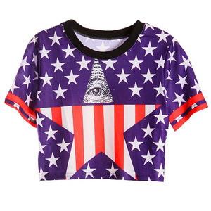 Illuminati Star Crop Top