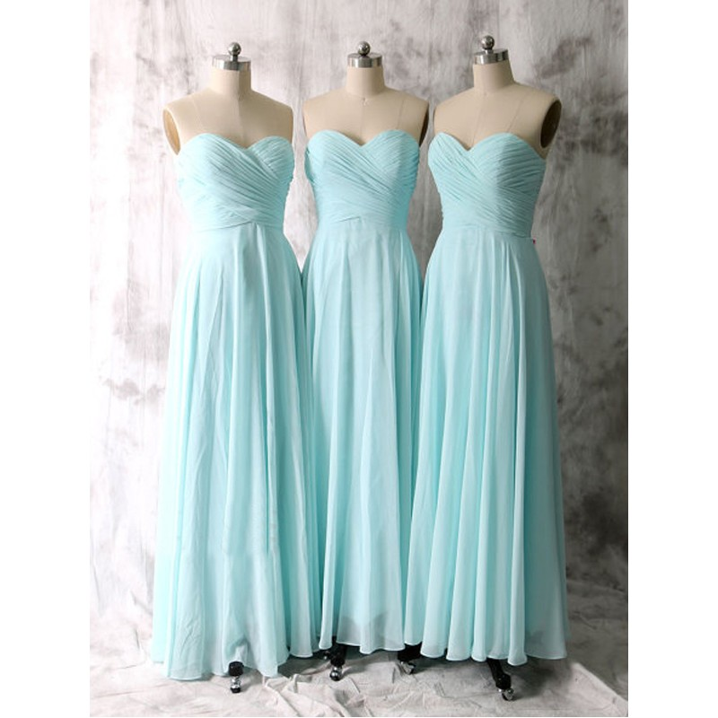 Long bridesmaid dresses tiffany blue bridesmaid dresses for Long blue dress for wedding