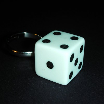 """roll of the dice"" adjustable ring"