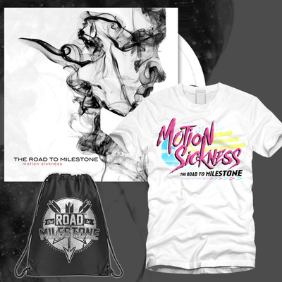 The road to milestone - motion sickness 90's shirt & bag bundle