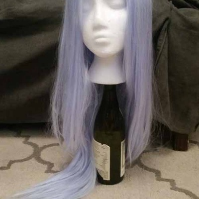 Long icy blue wig
