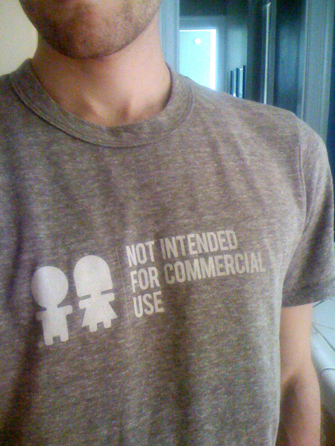 Not Intended for Commercial Use T-shirt
