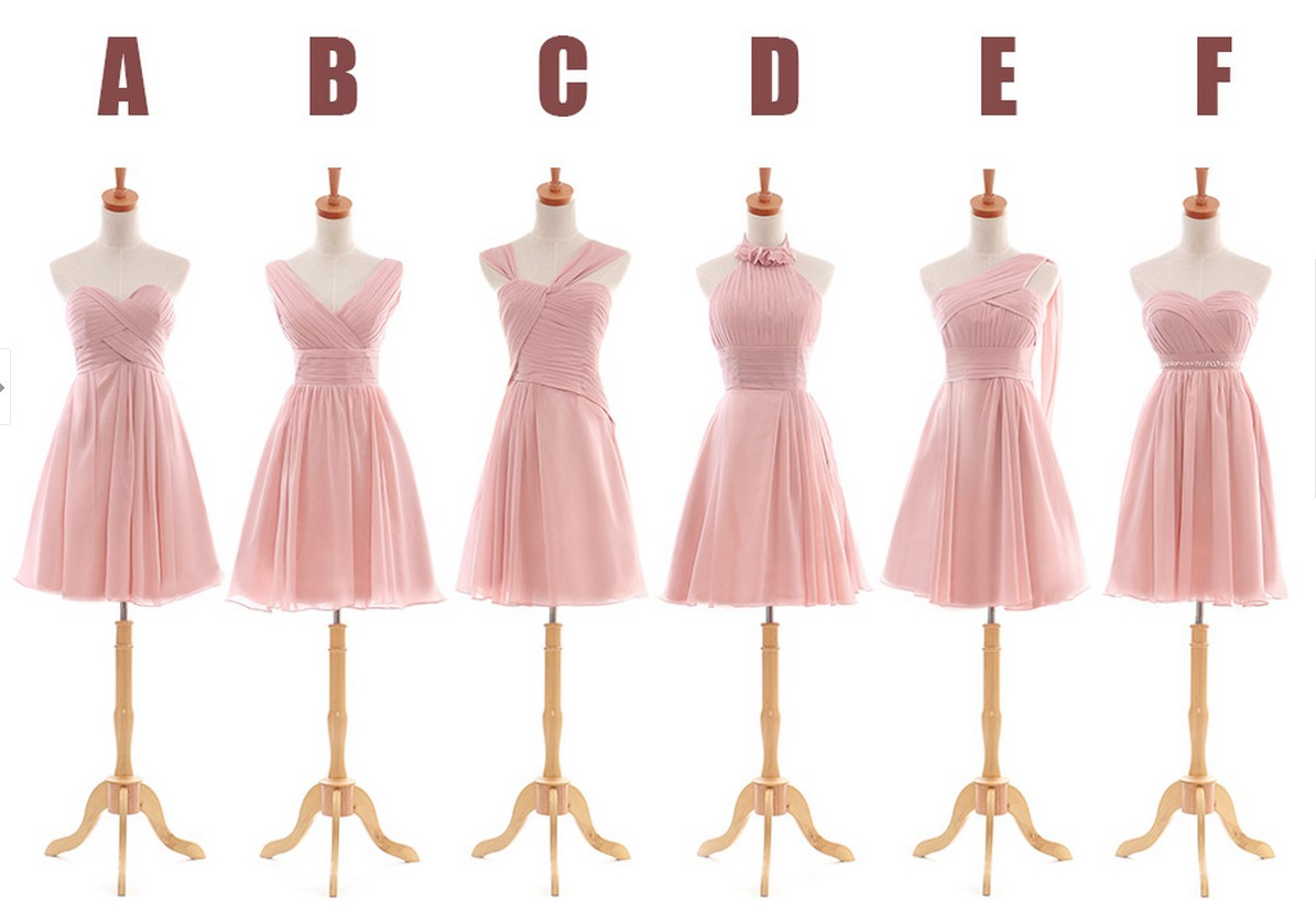 Blush pink bridesmaid dresses, cheap bridesmaid dresses, chiffon ...