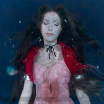 Aerith Gainsborough Burial Cosplay Print #4 medium photo