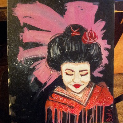 Geisha girl painting -ii
