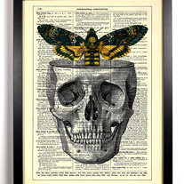 Image of Moths In The Attic, Vintage Dictionary Print, 8 x 10