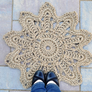 Daisy Flower Doormat - Rope Mat - Entryway decor - Handmade to order