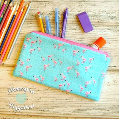 Pencil case - flamingos