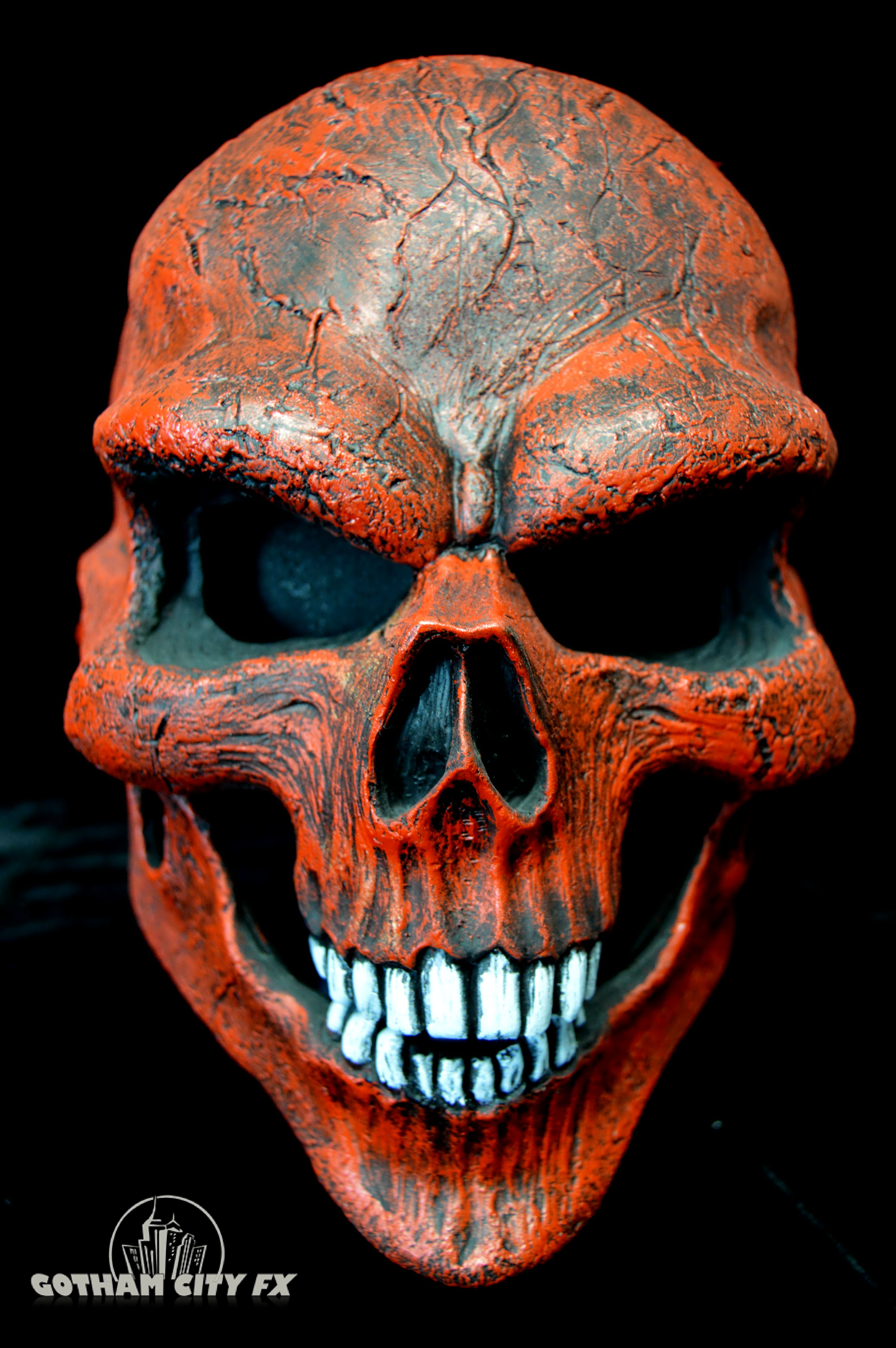 Red Ghost Rider Skull Mask · Gotham City FX · Online Store Powered ...