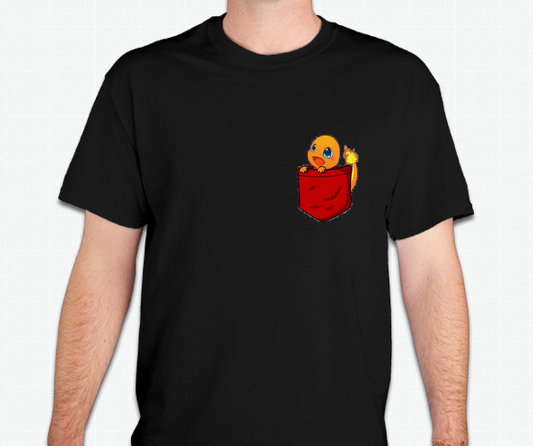 pokemon charmander in pocket t shirt lvlupitems online