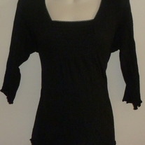 Black 3/4 Sleeve Length Shirt-Crave Apparel Maternity Size Large  GS513