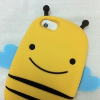 New Cute Love Yellow Smile Bee iPhone Case Cover