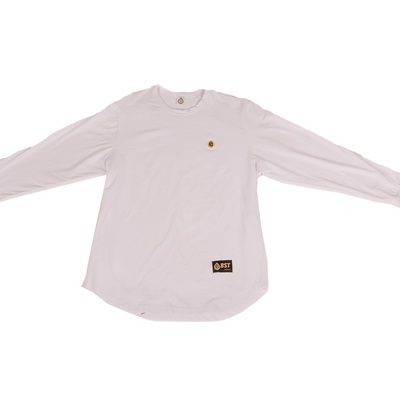 Bst long sleeve jersey tee (white)