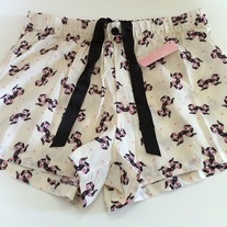 M or XL off-white black pink bow ribbon polka dot boxer shorts