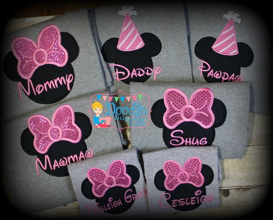 Minnie Mouse Family Disney Shirt Doodle Bug Designs