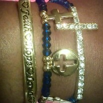 Faith, Hope & Love Blue and Gold Stack