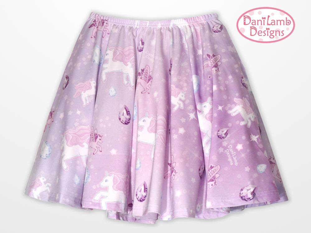 da092ba70156 Unicorn Skirt Pegasus Pony Fairy Kei Pastel Galaxy Skirt .