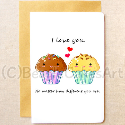 valentine's day gift ideas for bffs - cute girls postcards set illustrated postcards thank you