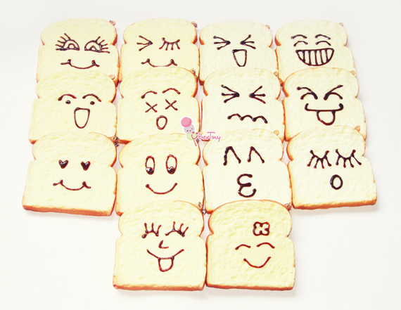 Squishy Jumbo Toast : JUMBO Emoticon Toast Squishies (scented) ? Uber Tiny ? Online Store Powered by Storenvy