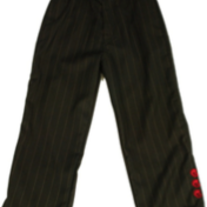Knuckleheads Dress Pants -Black w/Stripes