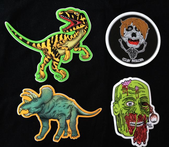 Colby Phillips SET Of Full Color Shaped Vinyl Stickers WITH - Full color vinyl stickers