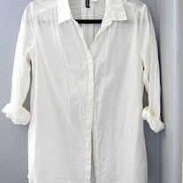 White H&M Button Up Blouse - NWOT