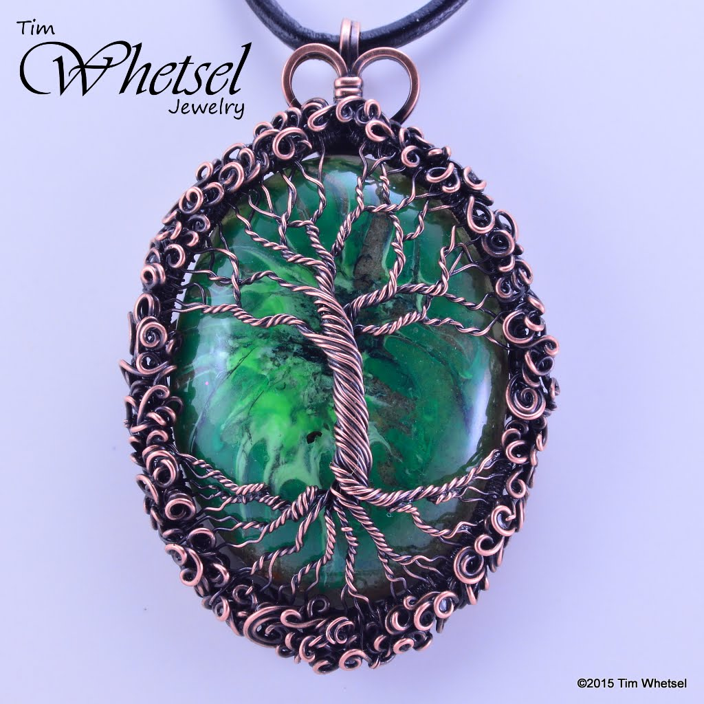 Copper tree of life glow in the dark orgonite pendant wire wrap copper tree of life glow in the dark orgonite pendant wire wrap handmade aloadofball Choice Image
