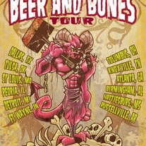 Beer And Bones Tour Poster - Autographed
