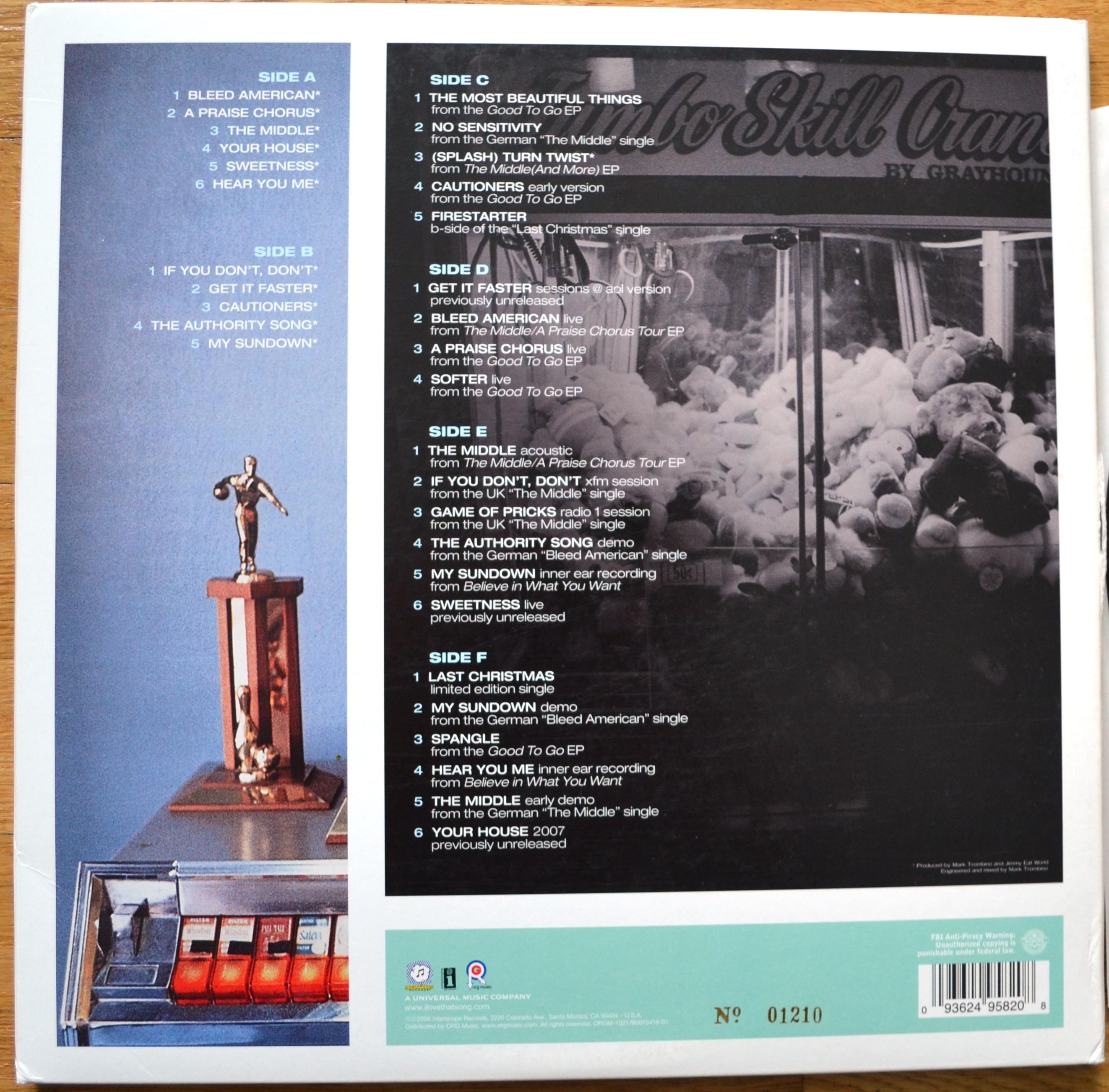 Jimmy Eat World - Bleed American 3xLP Vinyl · Revealed ...