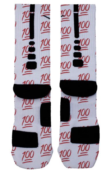 100 emoji custom nike elite socks on storenvy