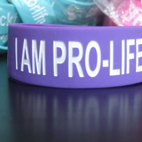 """I AM PRO-LIFE"" Wristband - Purple"