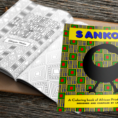 Sankofa: a coloring book of african prints & proverbs