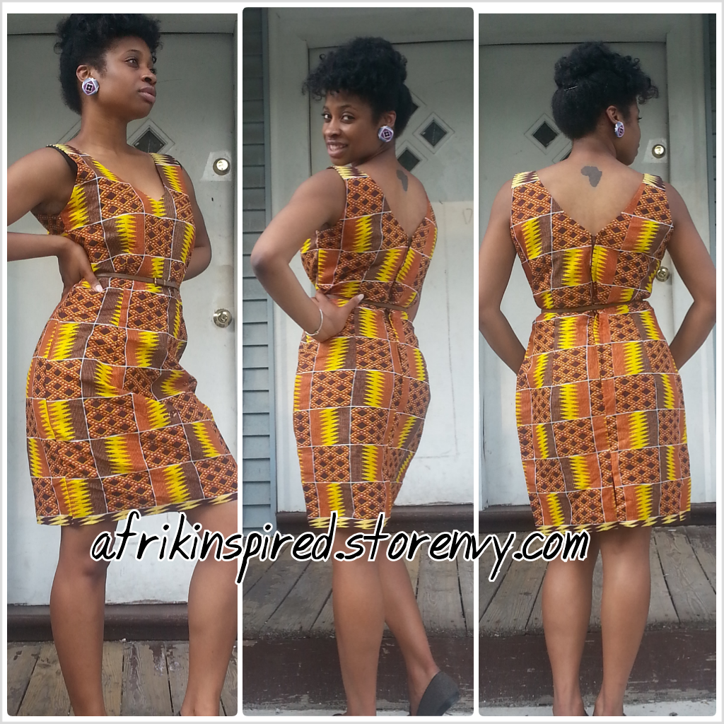 Ghana kente dress styles