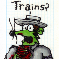 Sketch Card: Train Zombie