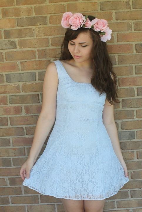 Float Among the Clouds Lace 90's Dress.