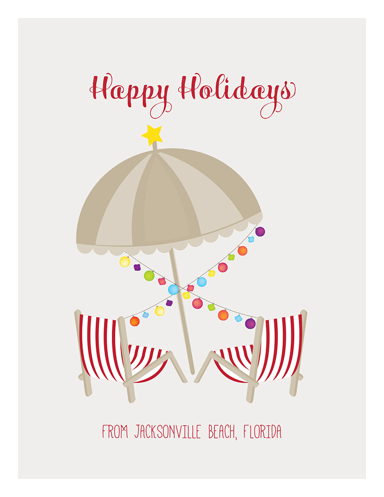 904 Paper Co. | Merry Christmas, Umbrella and Beach Chairs | Online ...