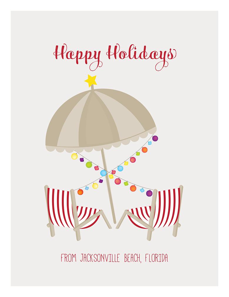 merry christmas umbrella and beach chairs - Merry Christmas Beach