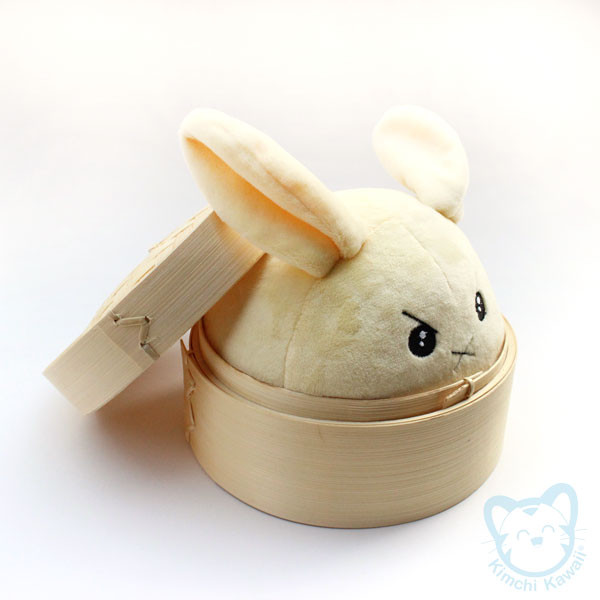 cute steamed bunny plush professionally manufactured. Black Bedroom Furniture Sets. Home Design Ideas