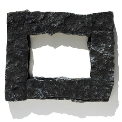 4x6 black rock picture frame