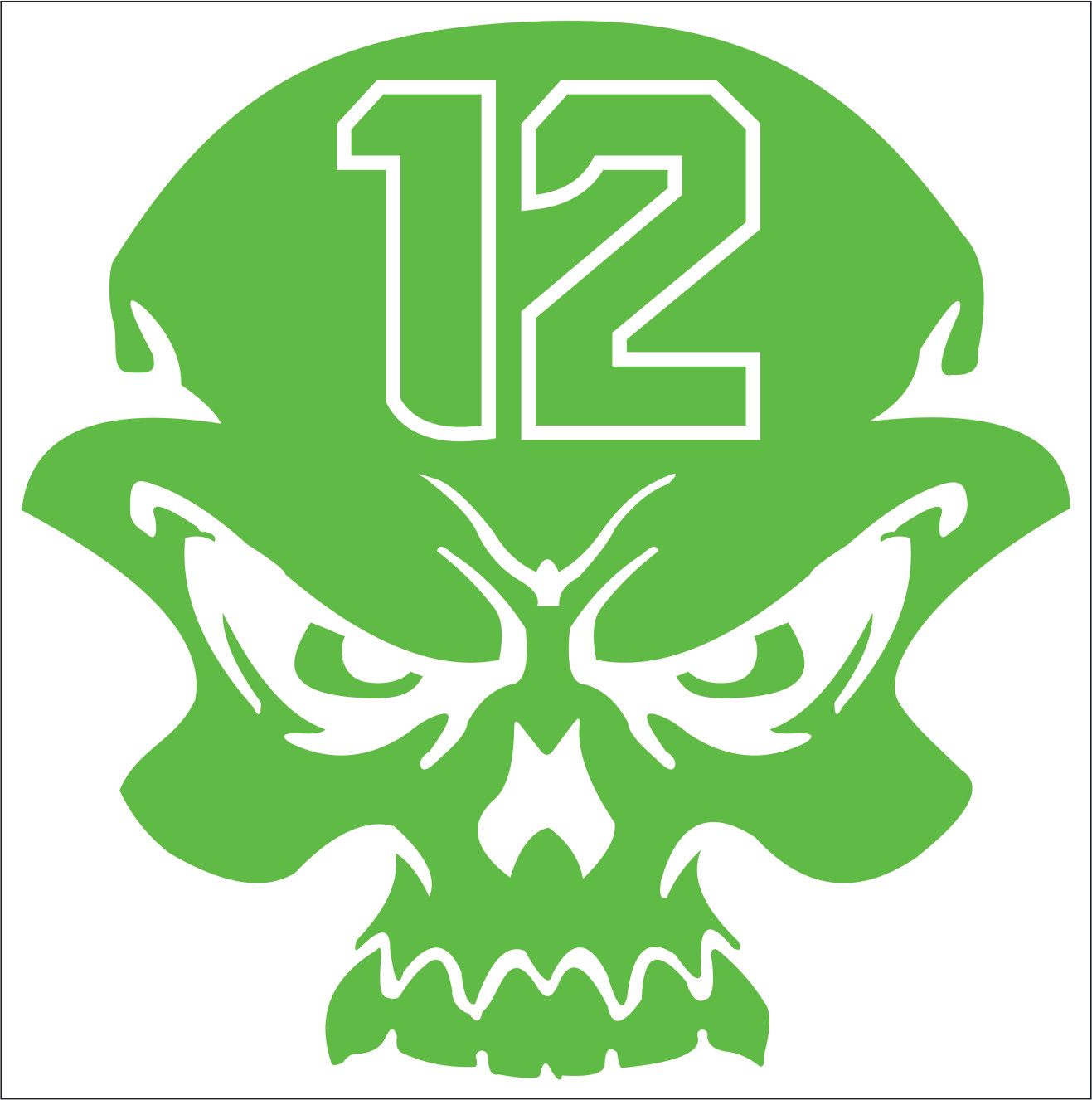 TWO Pack Of Th Man Seattle Seahawks Skull Custom Vinyl - Vinyl decals custompack of custom skull face vinyl decalsstickers thedecalking