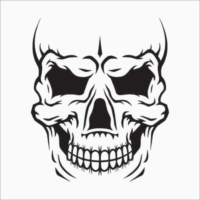 Skull Decals TheDecalKing Online Store Powered By Storenvy - Vinyl decals custompack of custom skull face vinyl decalsstickers thedecalking